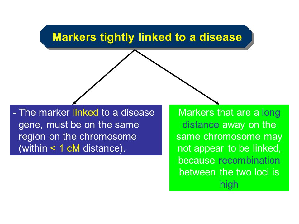 Markers tightly linked to a disease