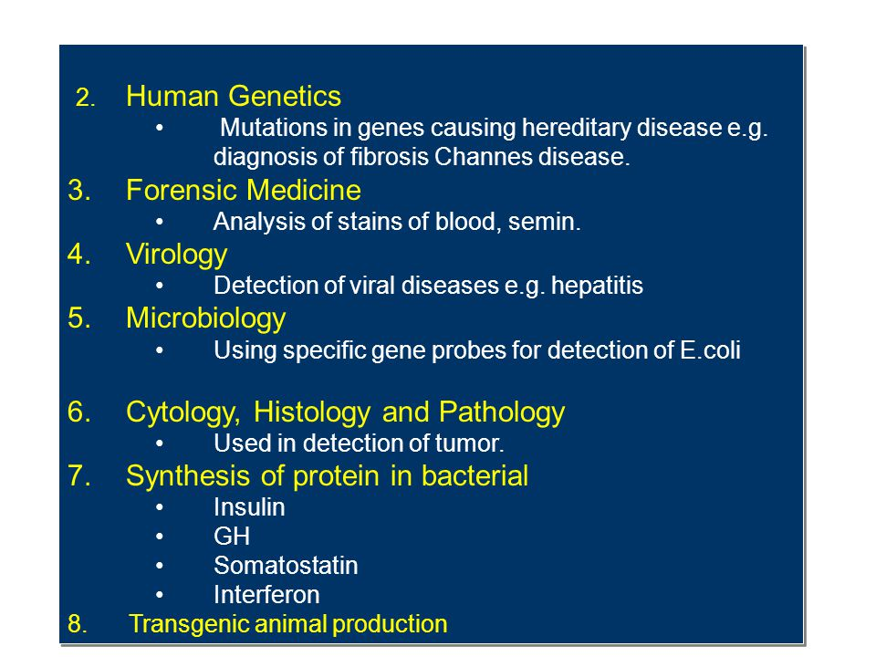 Cytology, Histology and Pathology Synthesis of protein in bacterial