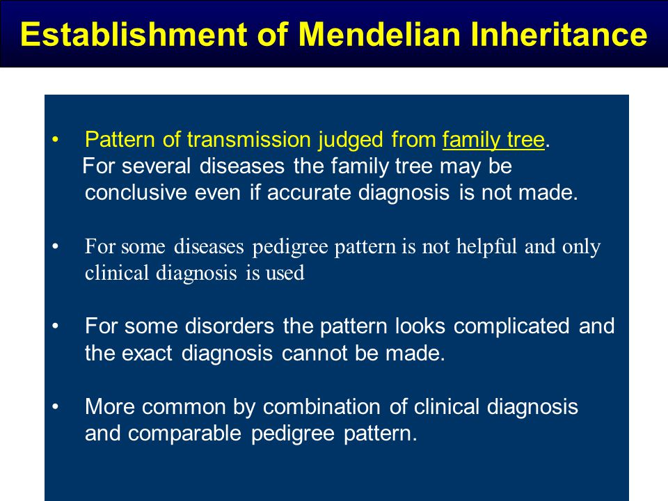Establishment of Mendelian Inheritance