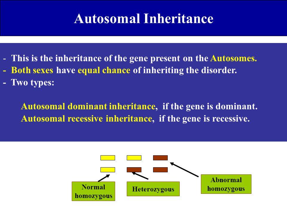 Autosomal Inheritance