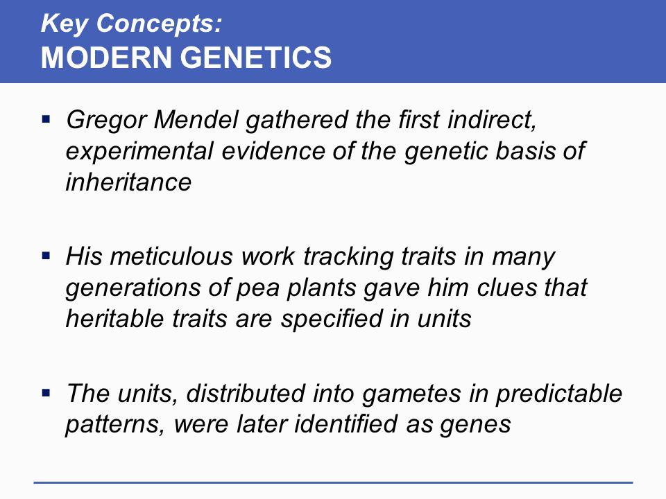 Key Concepts: MODERN GENETICS