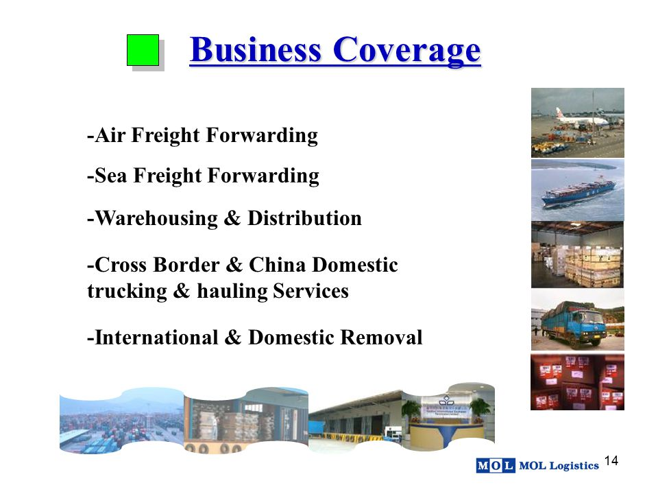 Business Coverage -Air Freight Forwarding -Sea Freight Forwarding