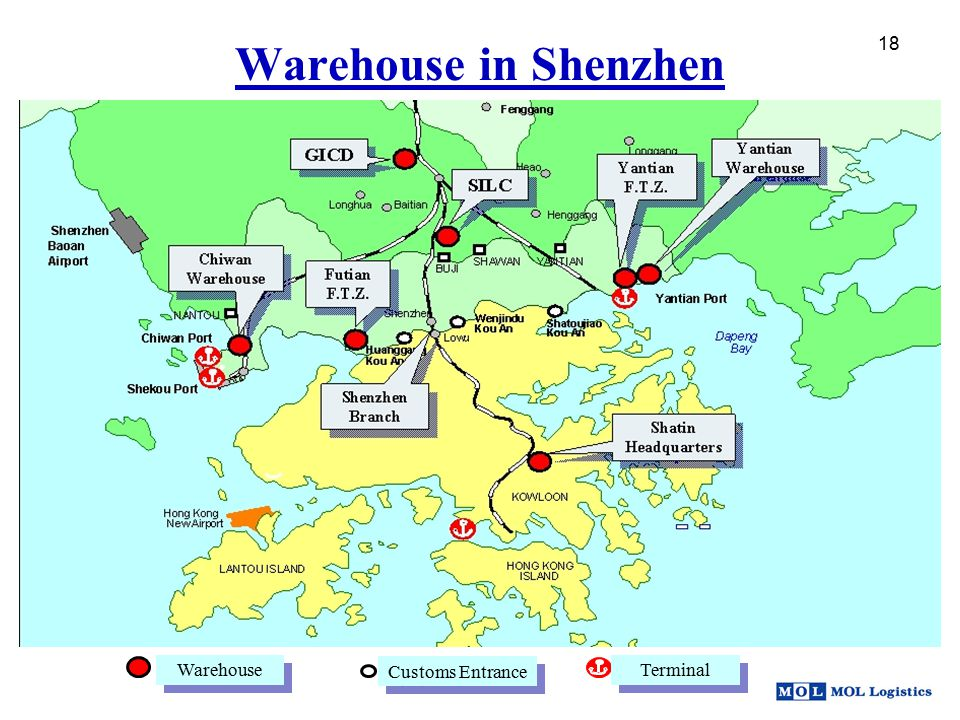 Warehouse in Shenzhen 18 Warehouse Customs Entrance Terminal