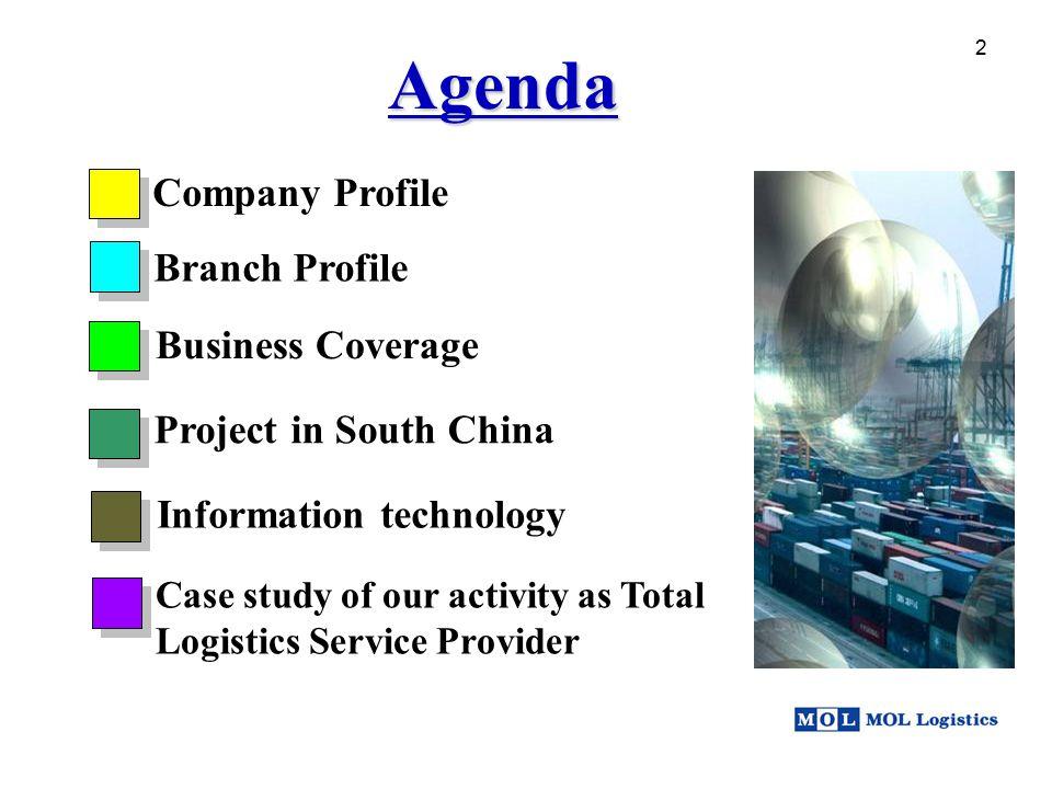 Agenda Company Profile Branch Profile Business Coverage