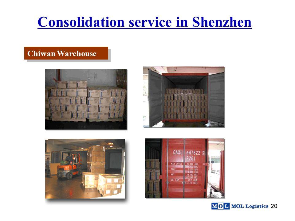 Consolidation service in Shenzhen
