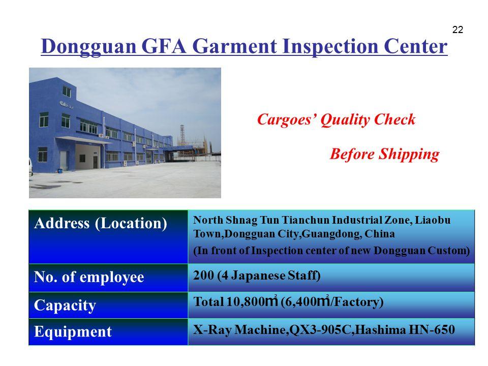 Dongguan GFA Garment Inspection Center