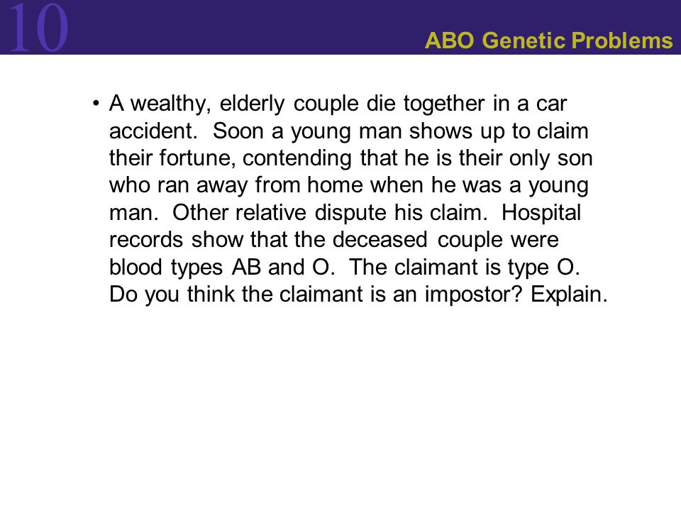 ABO Genetic Problems
