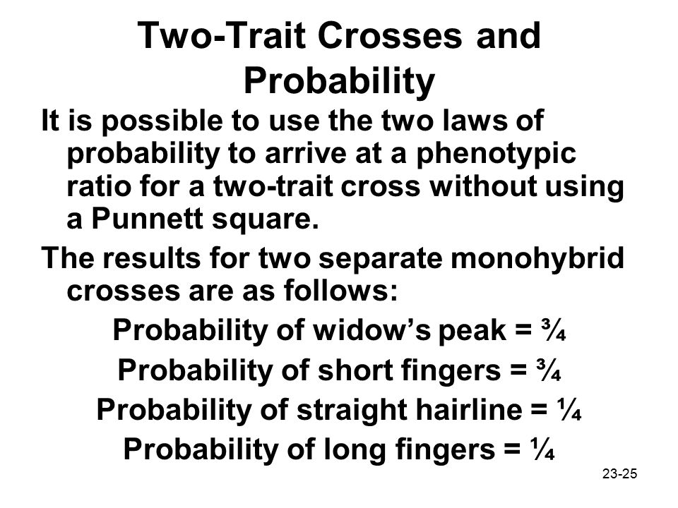 Two-Trait Crosses and Probability
