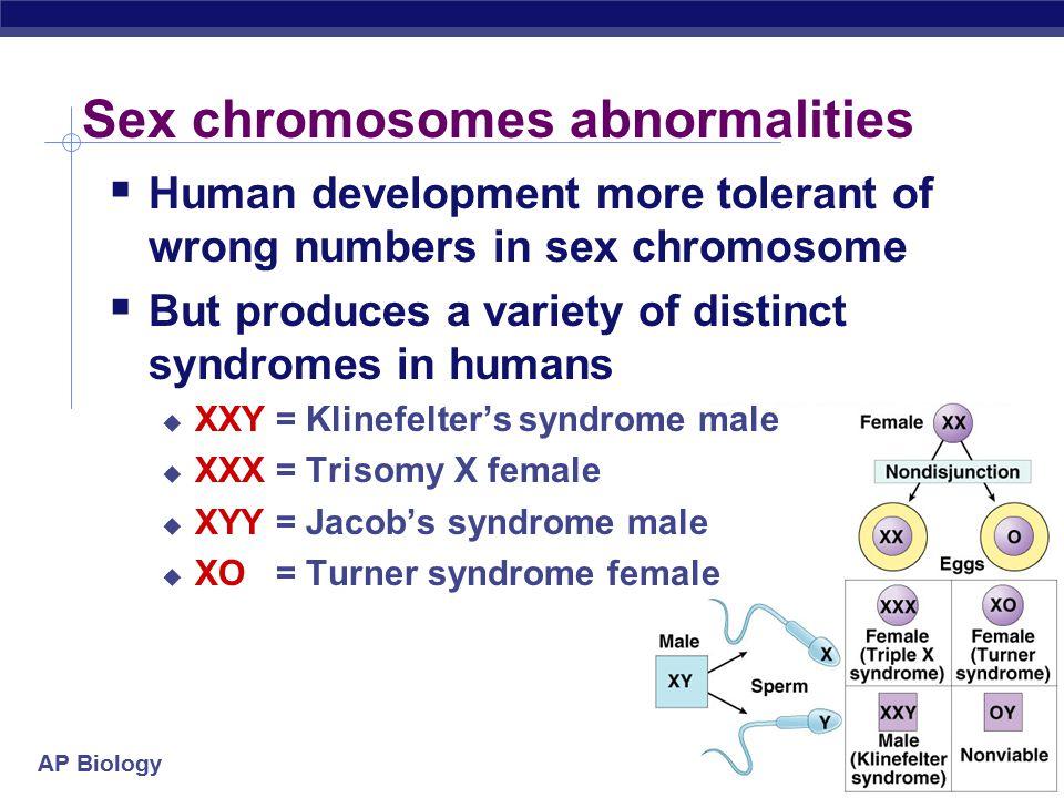Sex chromosomes abnormalities