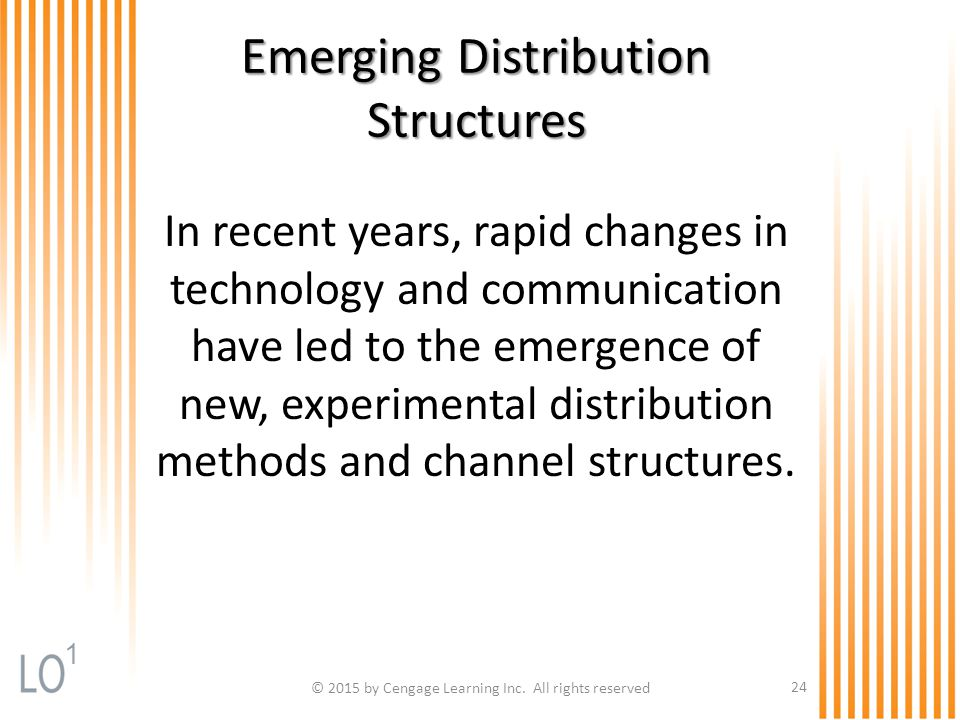 Emerging Distribution Structures