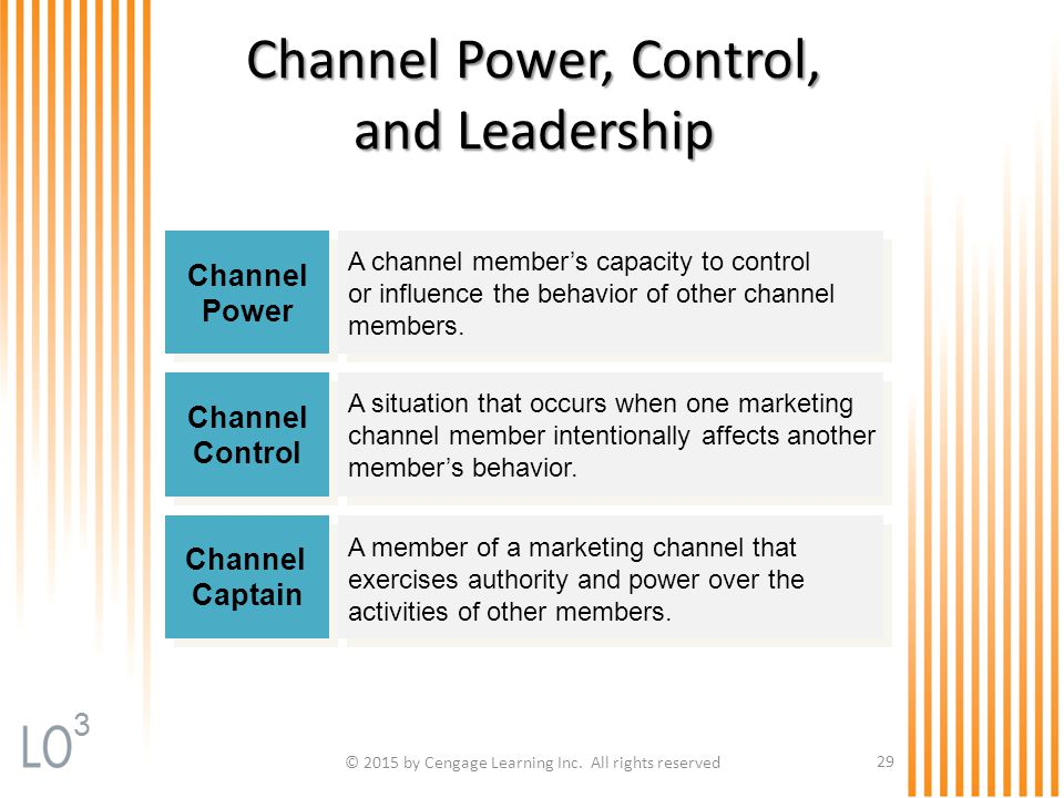 Channel Power, Control, and Leadership