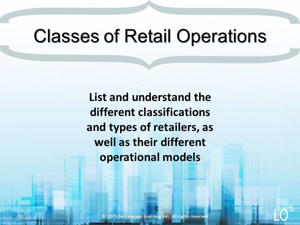 Classes of Retail Operations