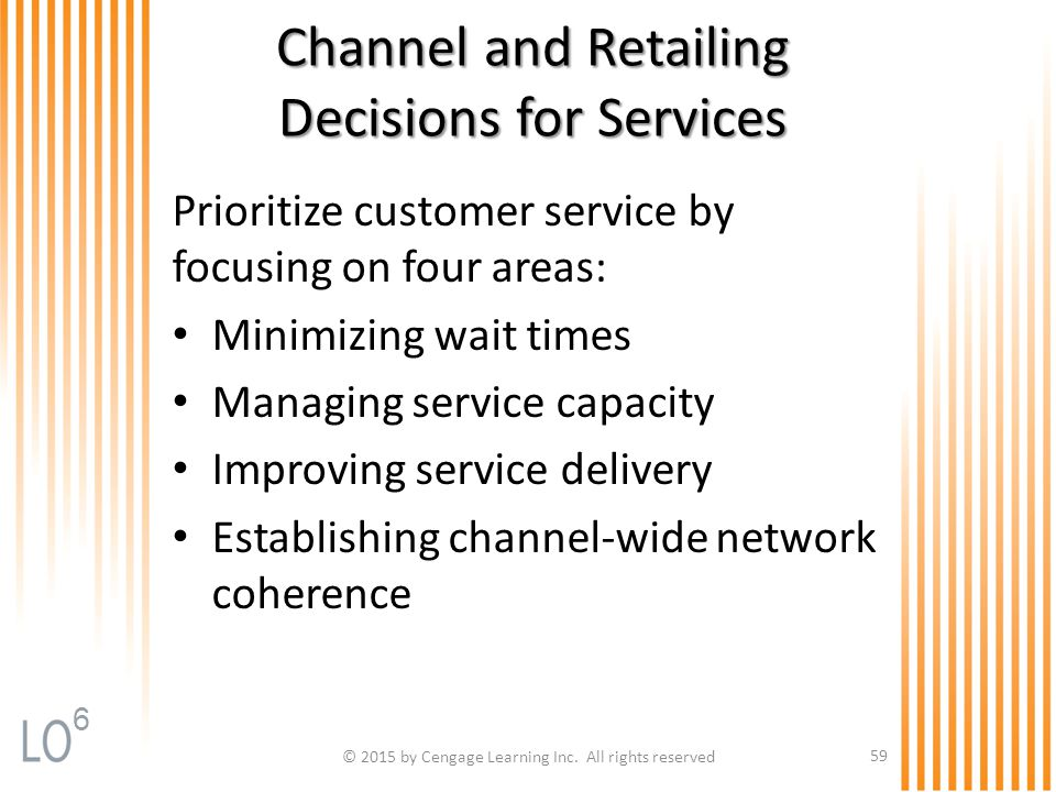 Channel and Retailing Decisions for Services