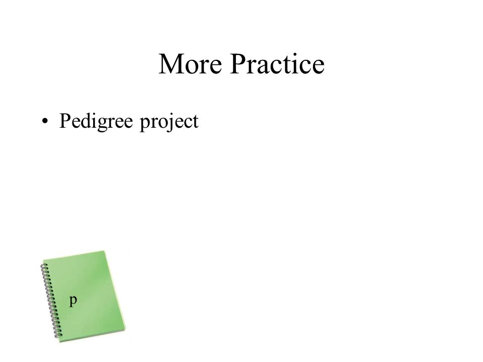 More Practice Pedigree project p