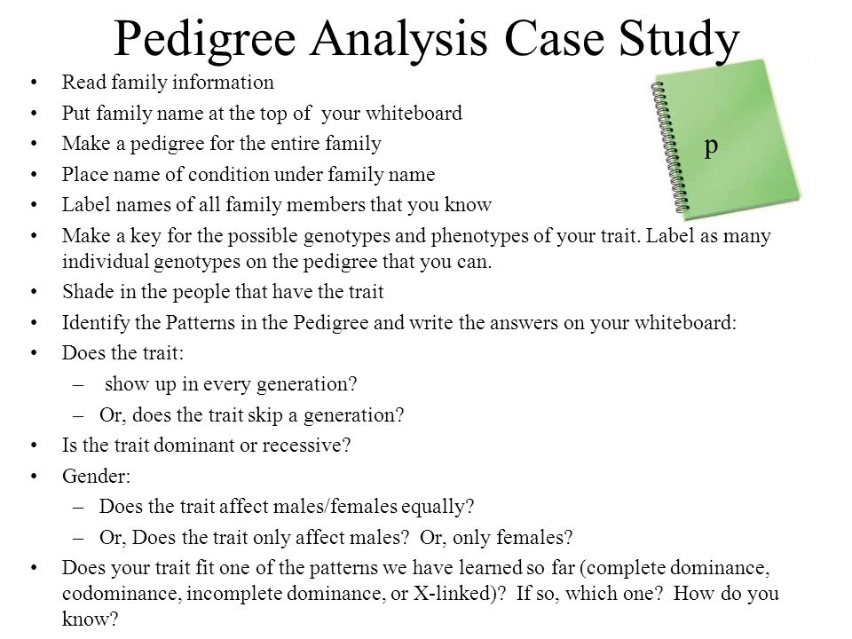 Pedigree Analysis Case Study
