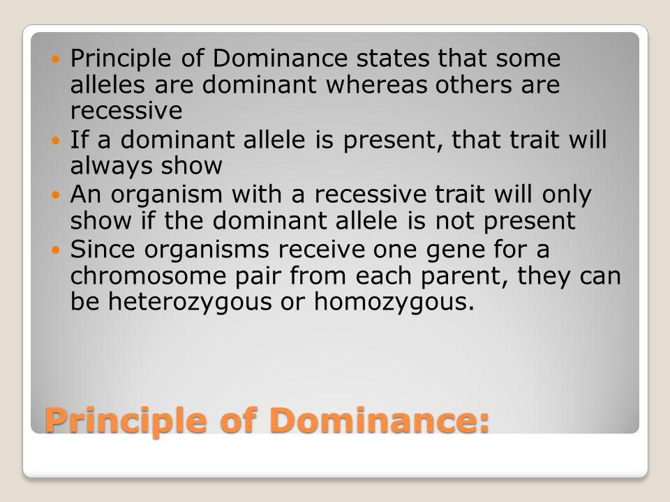 Principle of Dominance: