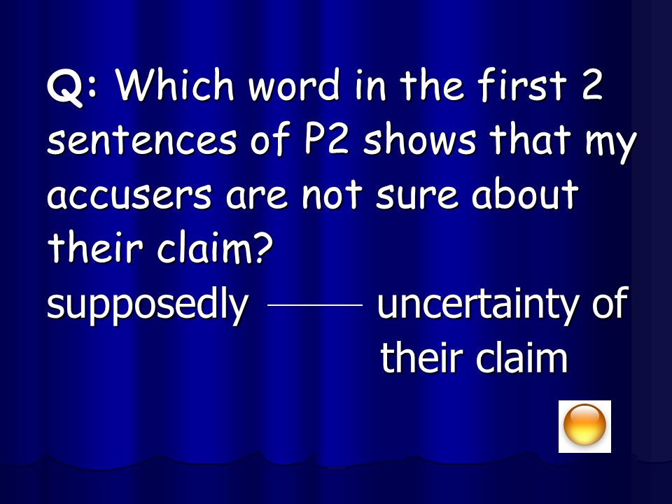 Q: Which word in the first 2