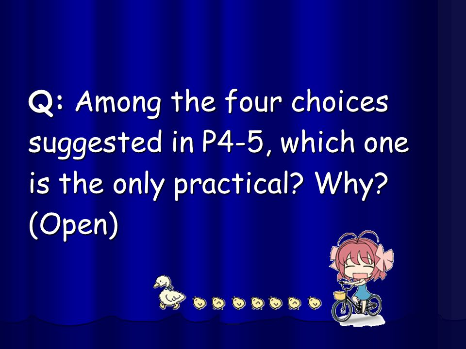 Q: Among the four choices