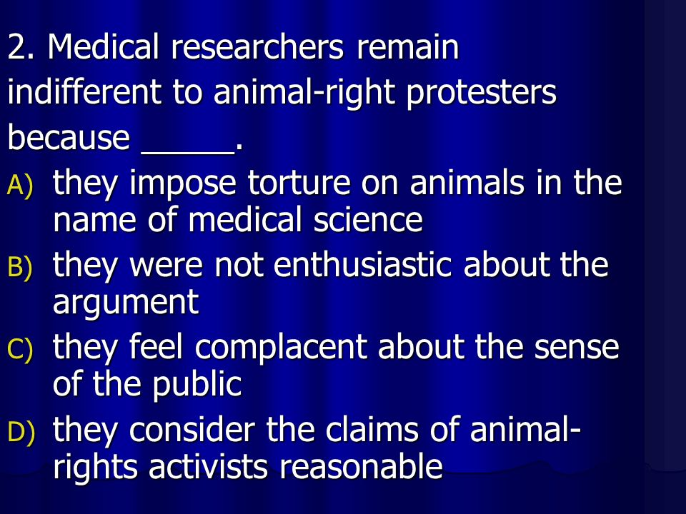 2. Medical researchers remain