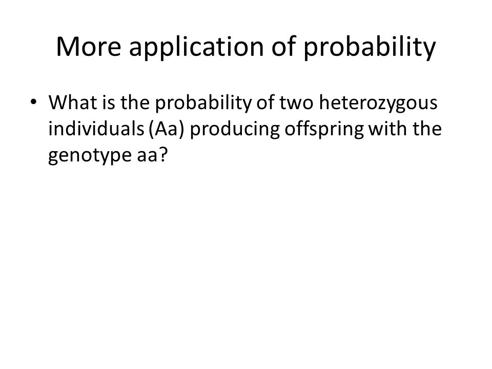 More application of probability