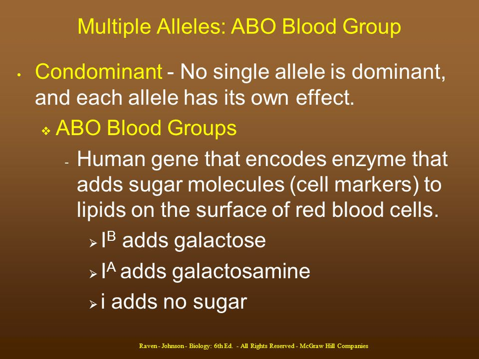 Multiple Alleles: ABO Blood Group