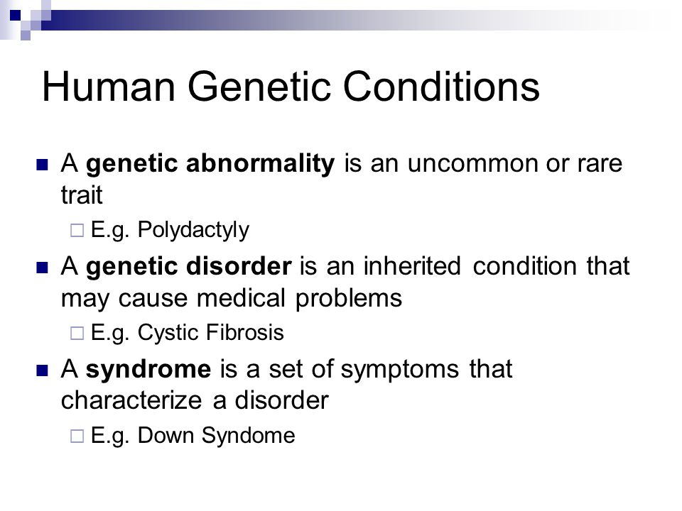 Human Genetic Conditions