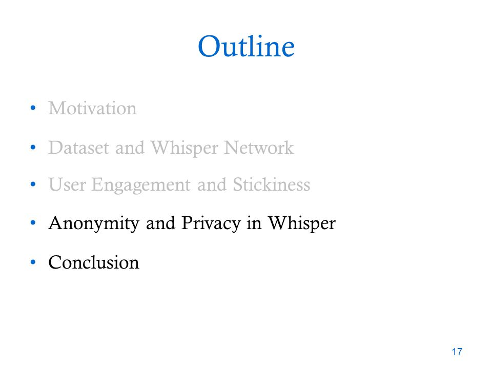 Privacy and Anonymity in Whisper