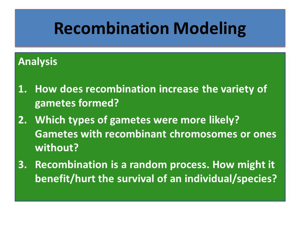 Recombination Modeling
