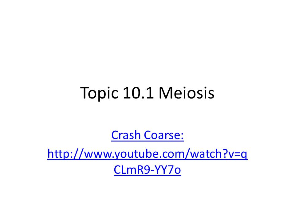 Crash Coarse: http://www.youtube.com/watch v=qCLmR9-YY7o