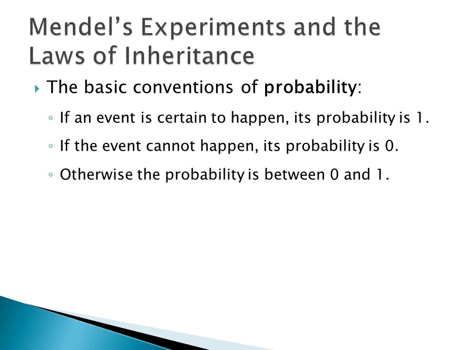 Mendel's Experiments and the Laws of Inheritance
