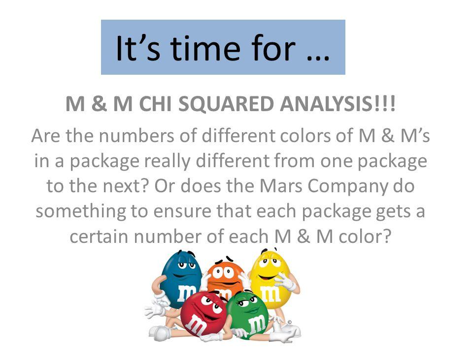 M & M CHI SQUARED ANALYSIS!!!