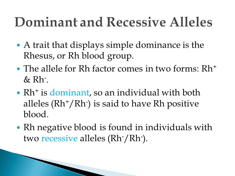 Dominant and Recessive Alleles