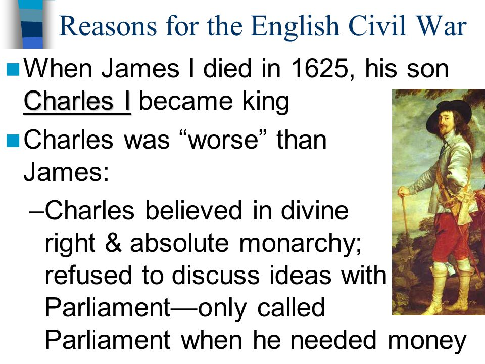 Reasons for the English Civil War