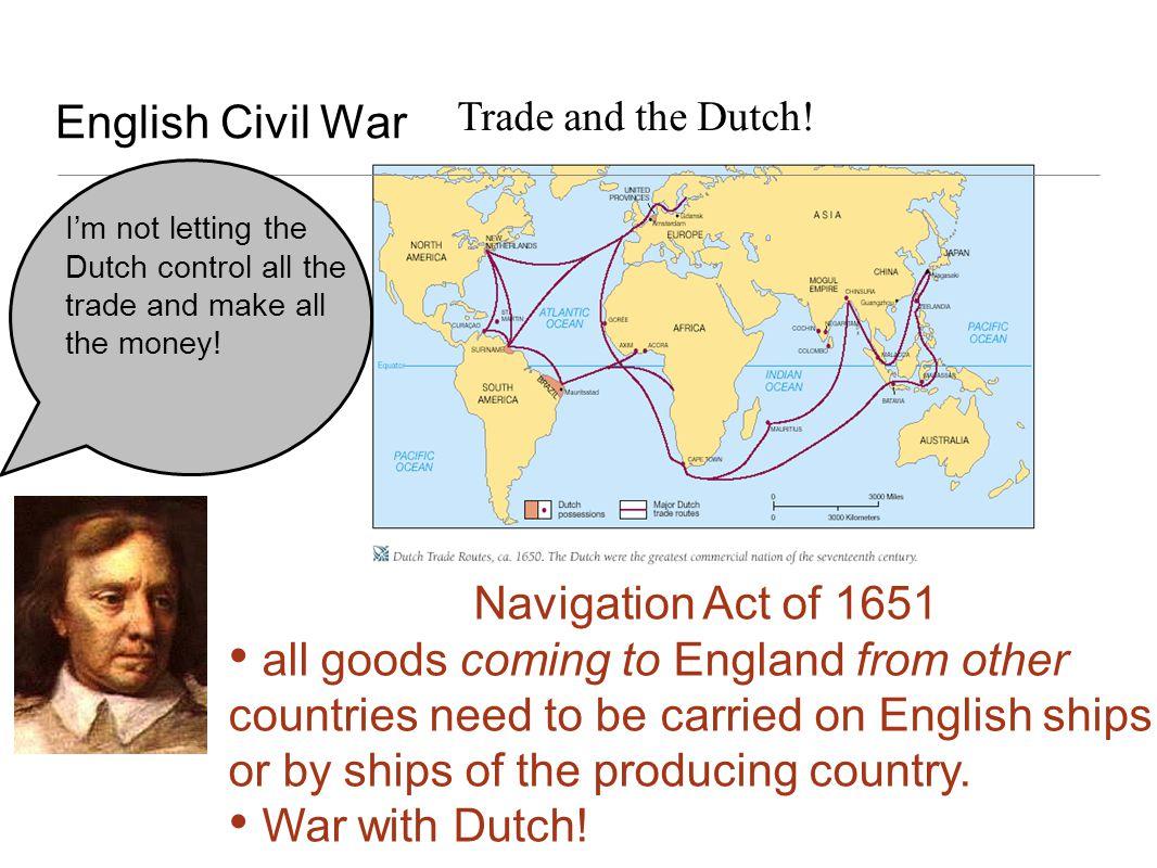 English Civil War Navigation Act of 1651