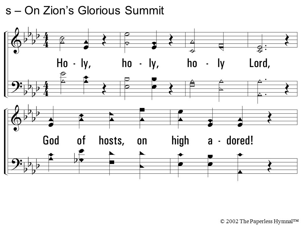 s – On Zion's Glorious Summit