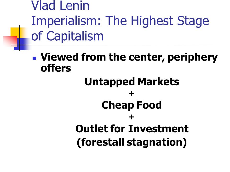 Vlad Lenin Imperialism: The Highest Stage of Capitalism