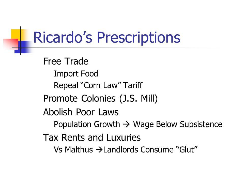 Ricardo's Prescriptions