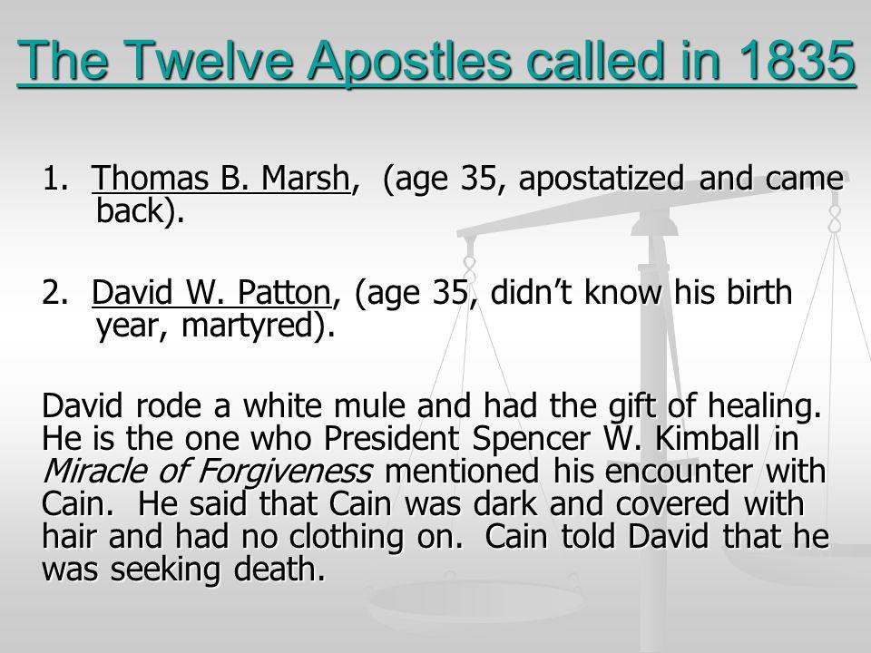 The Twelve Apostles called in 1835