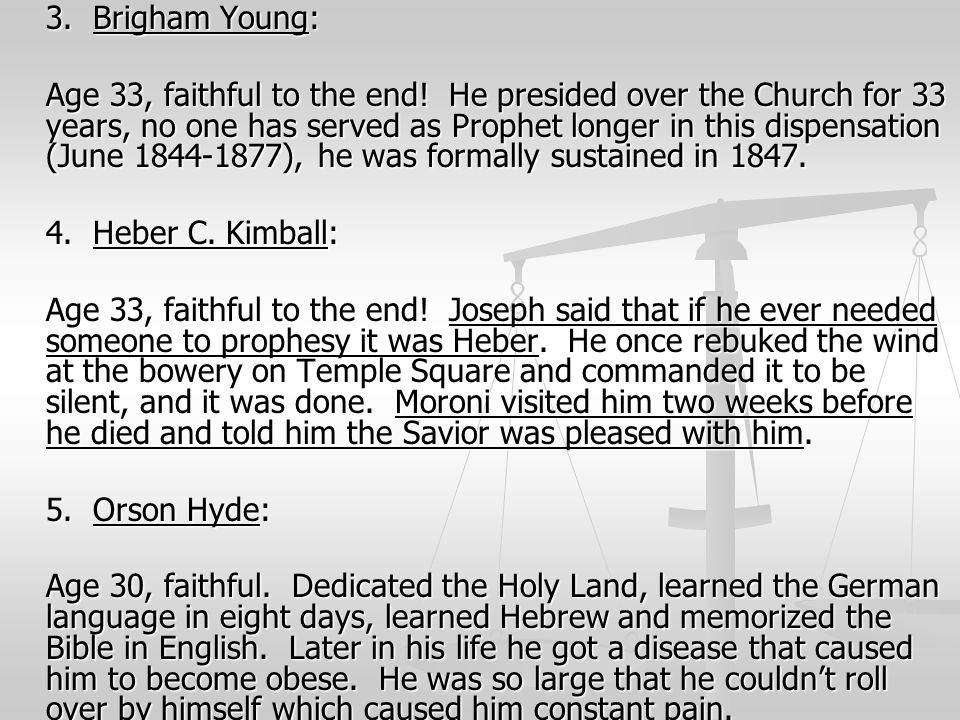 3. Brigham Young: