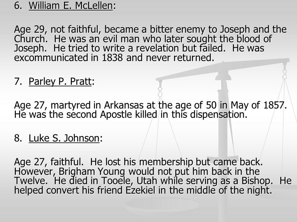 6. William E. McLellen: