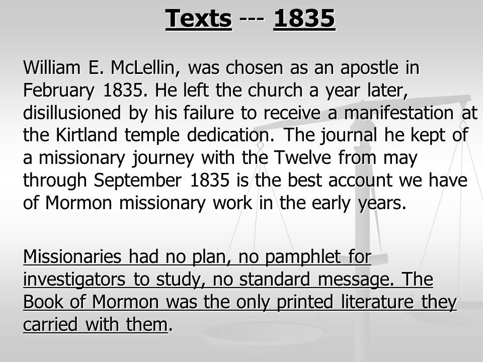 Texts --- 1835