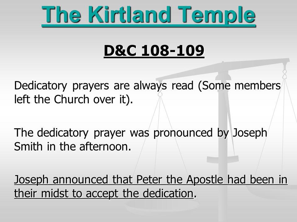 The Kirtland Temple D&C 108-109
