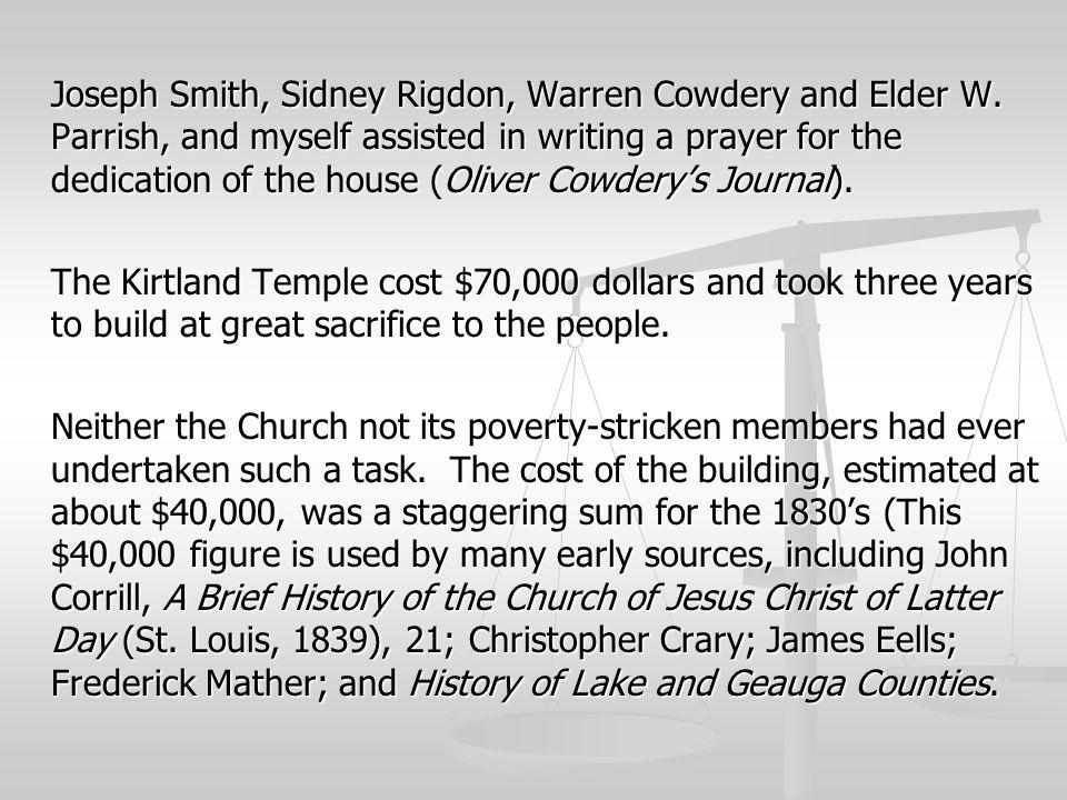 Joseph Smith, Sidney Rigdon, Warren Cowdery and Elder W