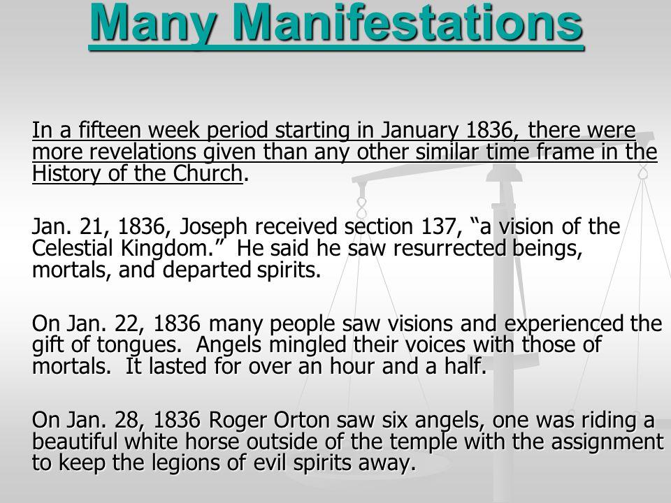 Many Manifestations