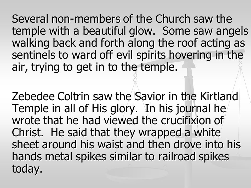 Several non-members of the Church saw the temple with a beautiful glow