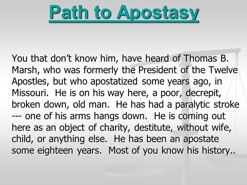 Path to Apostasy