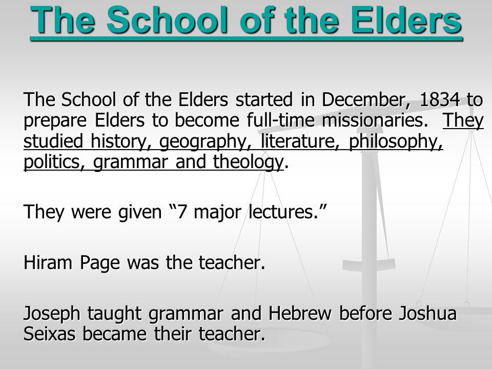 The School of the Elders