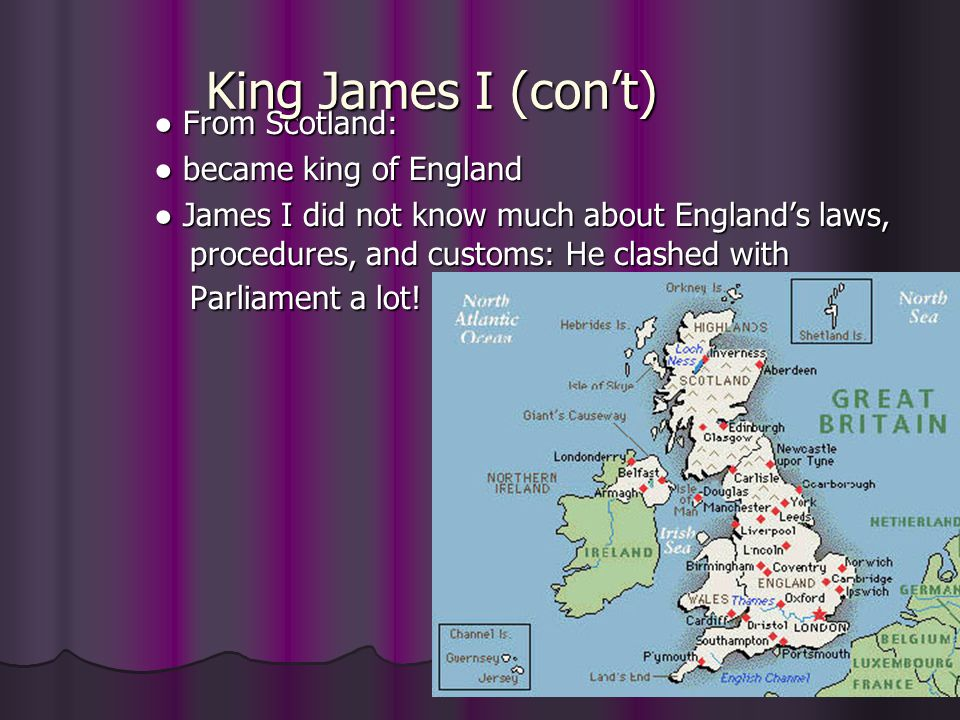 King James I (con't)