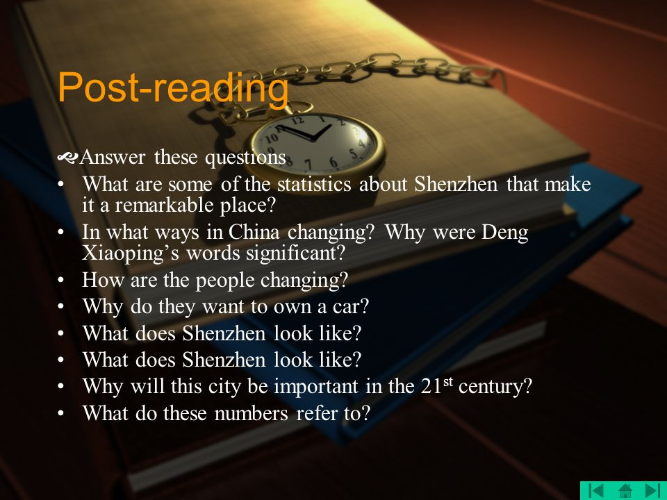 Post-reading Answer these questions