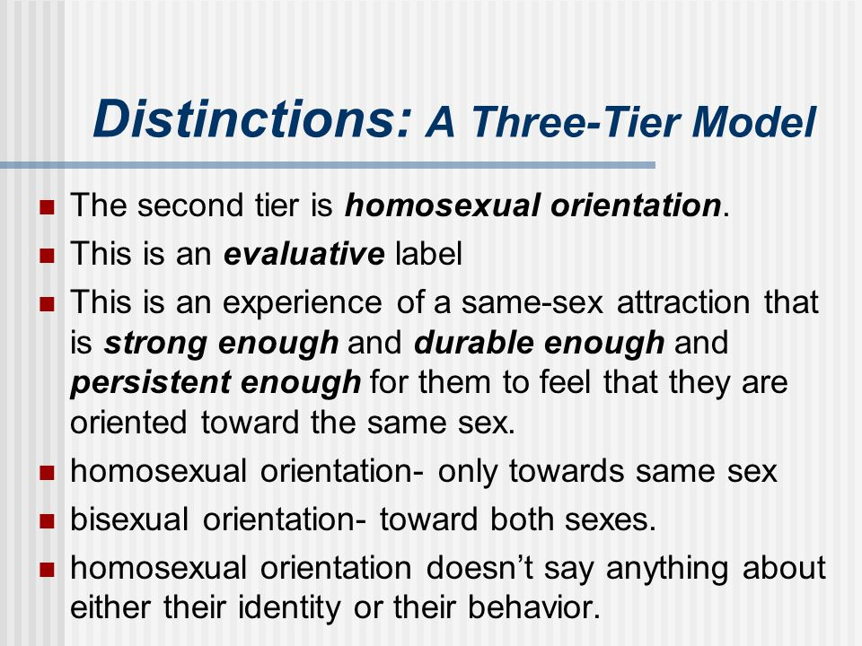 Distinctions: A Three-Tier Model